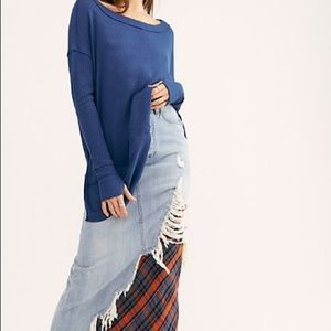 Free People North Shore Thermal - Blue Porcelain